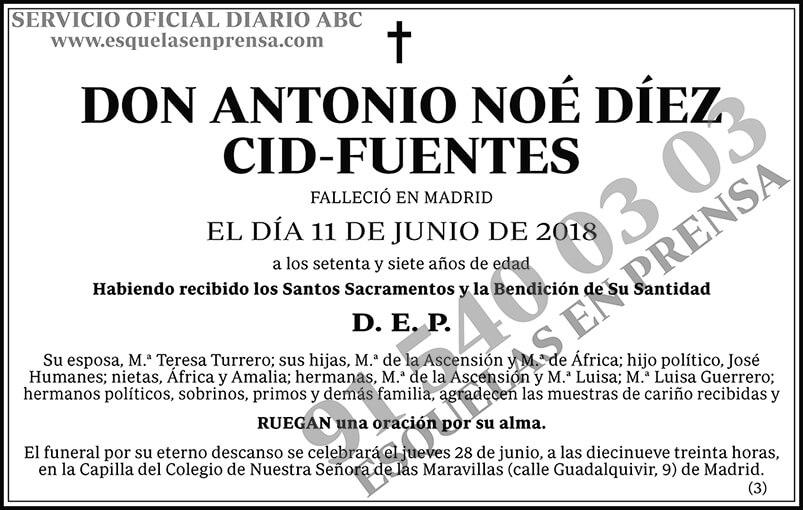 Antonio Noé Díez Cid-Fuentes